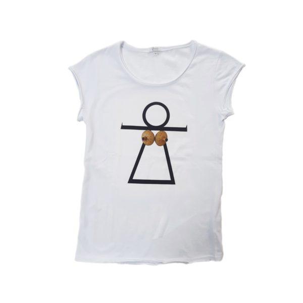 t-shirt Tanit Is Bocchiris Bianca