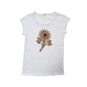 t-shirt Girasole Sardo Bianca