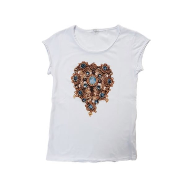 t-shirt Cuore Bianca